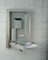 Stainless Steel Baby Changer-Vertical-Surface Mounted