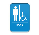 "Blue Wall ADA Sign-Boy 6""x9"""